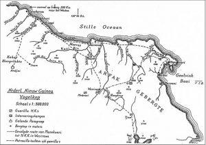 Kaart Nieuw Guinea vogelkop